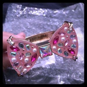 Betsey Johnson bow bracelet